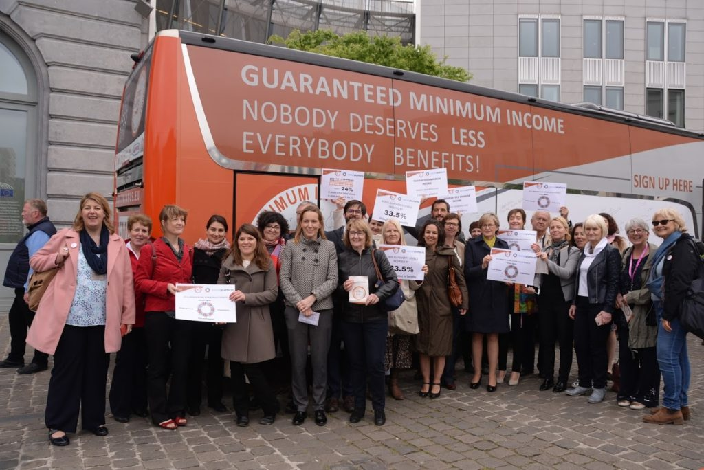 EMIN European Bus Tour Campaign for Guaranteed Minimum Income Schemes across Europe
