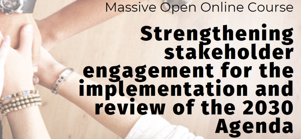 """E-course """"Strengthening stakeholder engagement for the implementation and review of the 2030 Agenda"""""""