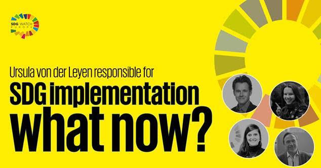 Event: Ursula von der Leyen responsible for SDG implementation- What now?